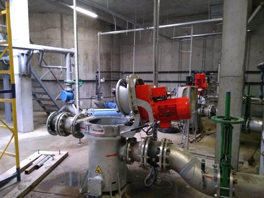 проточний подрібнювач RotaCut на біогазових виробництві