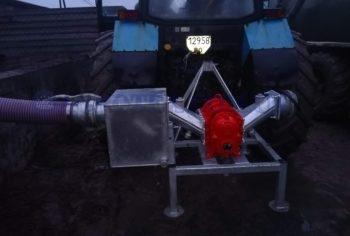 Роторный насос на каркас із каменевловлювачем