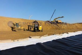 Пленочное навозохранилище для фермы КРС