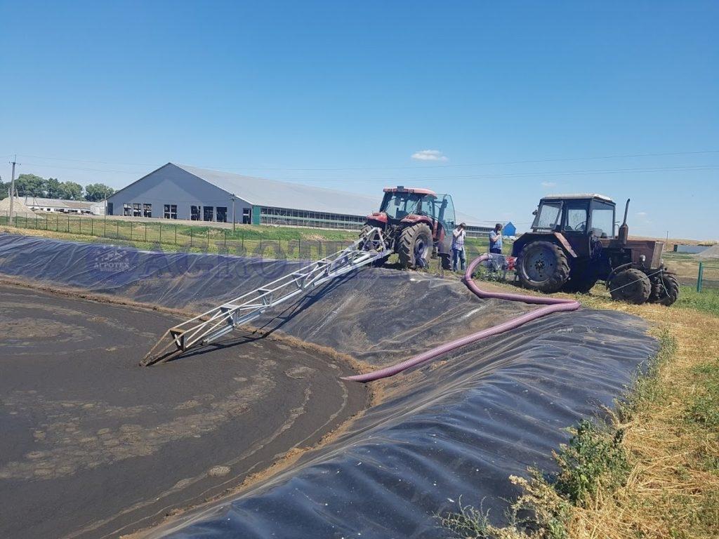 перекачивание навоза на ферме КРС