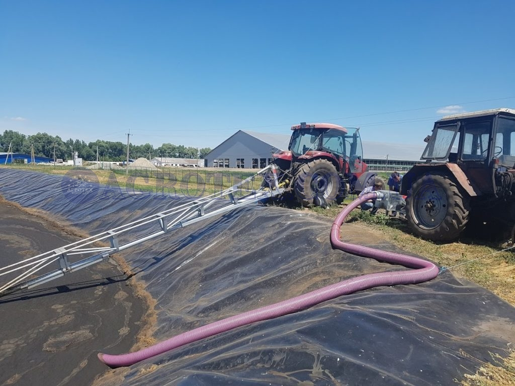перемешивание и перекачивание навоза на ферме КРС