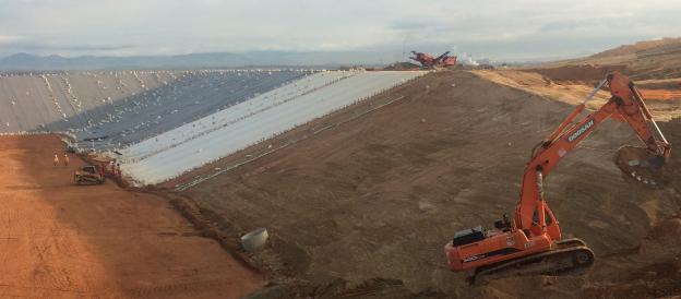 Будівництво полігона ТПВ з використанням геомембрани HDPE