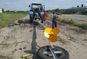 пропеллер миксера с ВОМ от трактора