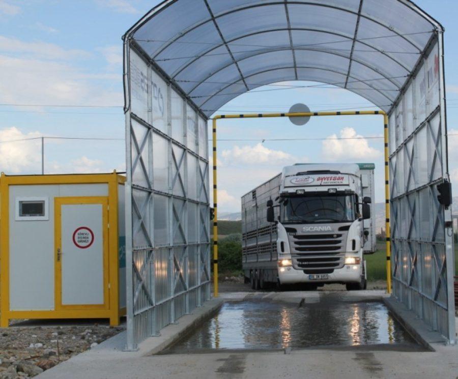 рамка для дезинфекции автотранспорта